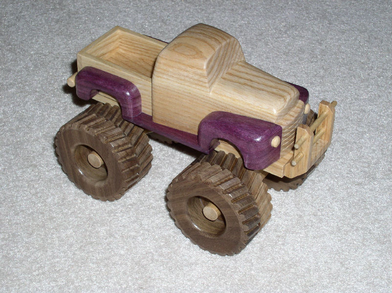 They built this toy truck with some scrap wood found laying around the ...