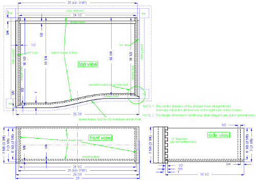 Tops Technical Drawing Drawing 22 Top/front/side