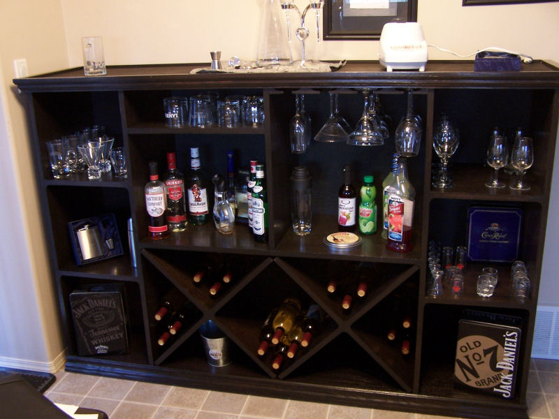 wine rack bar plans