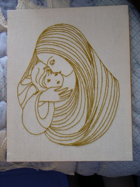 """Mother and Child (1980's, 12"""" x 15"""")"""