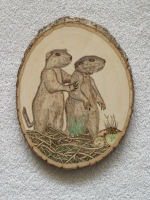 Woodburned gophers